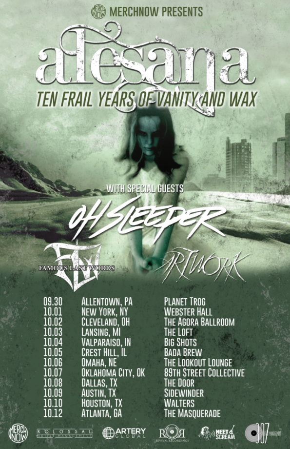 Ten Frail Years of Vanity and Wax Tour Poster 16