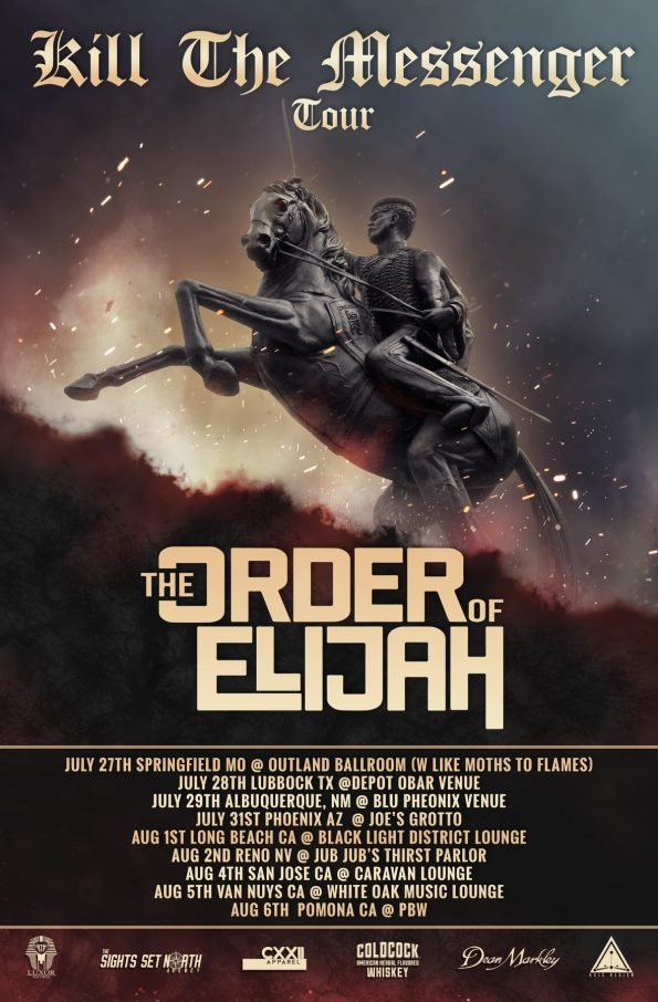 The Order of Elijah - Kill the Messenger Tour Poster