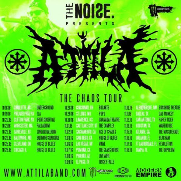 Attila - The Noise Presents The Chaos Tour